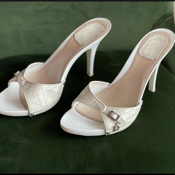Dior white Heels size 41